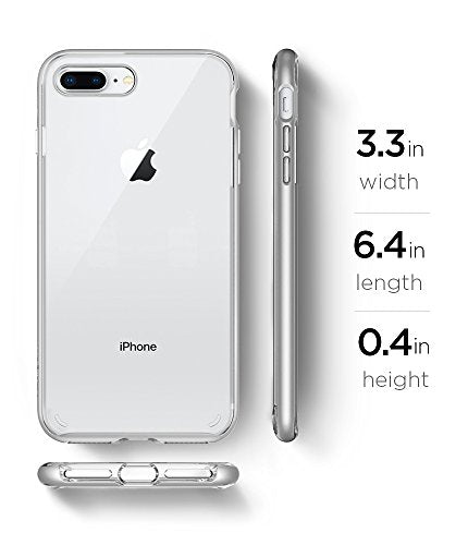 huge selection of df406 846cc Spigen Neo Hybrid Crystal [2nd Generation] iPhone 8 Plus Case / iPhone 7  Plus Case with Clear Casing and Hard Frame for Apple iPhone 8 Plus (2017) /  ...