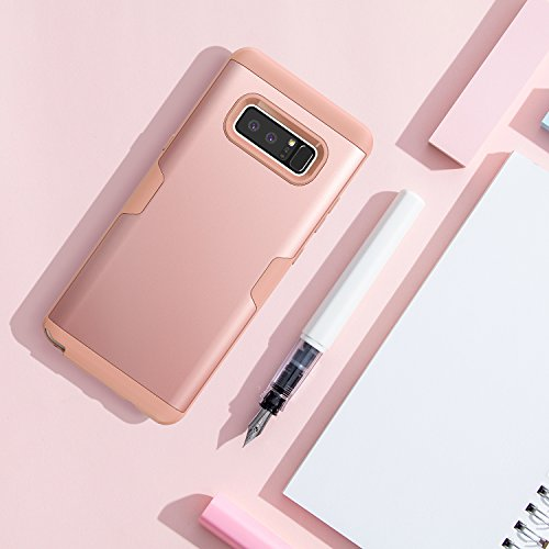 huge discount f8cc7 076bb Galaxy Note 8 Case, YOUMAKER Rose Gold Full Body Heavy Duty Protection  Shockproof Slim Fit Case Cover for Samsung Galaxy Note 8 (2017 Release)  WITHOUT ...
