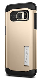 Spigen Slim Armor Galaxy S7 Edge Case with Kickstand and Air Cushion Technology and Hybrid Drop Protection for Samsung Galaxy S7 Edge 2016 - Champagne Gold