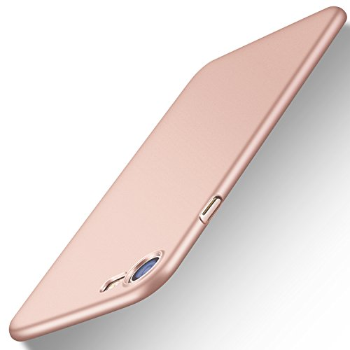 iPhone 7 Case, TORRAS Slim Fit Shell Hard Plastic Full Protective Anti-Scratch Resistant Cover Case for Apple iPhone 7 (2016) / iPhone 8 (2017) -Rose Gold