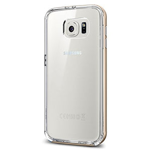 Spigen Neo Hybrid CC Galaxy S6 Case with Flexible Inner Casing and Reinforced Hard Bumper Frame for Galaxy S6 2015 - Champagne Gold