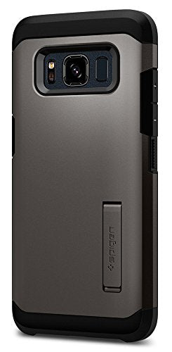 Spigen Tough Armor Galaxy S8 Active Case with Kickstand and Extreme Heavy Duty Protection and Air Cushion Technology for Galaxy S8 Active (2017) - Gunmetal