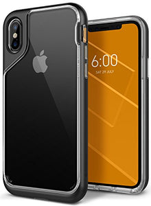 huge discount 16107 89690 iPhone X Case, Caseology [Skyfall Series] Slim Transparent Clear Scratch  Resistant Protective Cover for Apple iPhone X (2017) - Black