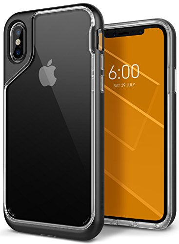 iPhone X Case, Caseology [Skyfall Series] Slim Transparent Clear Scratch Resistant Protective Cover for Apple iPhone X (2017) - Black