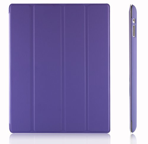 JETech iPad 2/3/4 Case with Back Protection for Apple iPad 4 3 2 with Auto Sleep/Wake (Purple) - 0217