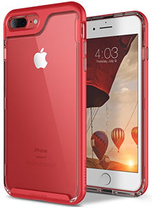 iPhone 8 Plus Case / iPhone 7 Plus Case Caseology [Skyfall Series] Transparent Clear Slim Scratch Resistant Cover Drop Protection for Apple iPhone 7 Plus (2016) / iPhone 8 Plus (2017) - Red
