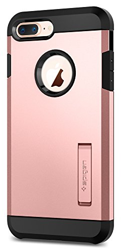 Spigen Tough Armor [2nd Generation] iPhone 8 Plus Case / iPhone 7 Plus Case with Kickstand Air Cushion Technology for Apple iPhone 8 Plus (2017) / iPhone 7 Plus (2016) - Rose Gold
