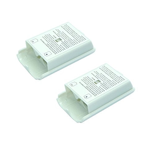 2x White Battery Cover For Microsoft Xbox 360 Wireless Controller
