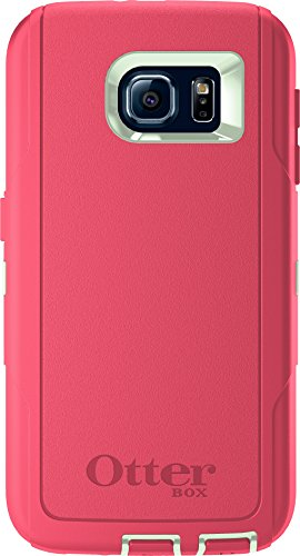 OtterBox DEFENDER SERIES for Samsung Galaxy S6 - Retail Packaging - Melon Pop (Sage Green/Hibiscus Pink)