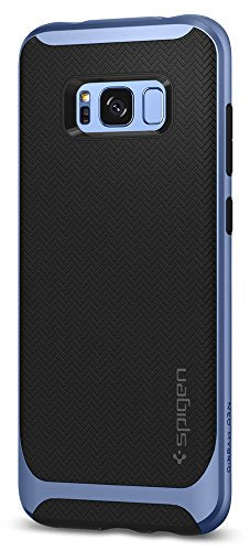 best service e502e 99d4b Spigen Neo Hybrid Galaxy S8 Case Herringbone with Flexible Inner Protection  and Reinforced Hard Bumper Frame for Samsung Galaxy S8 (2017) - Coral Blue