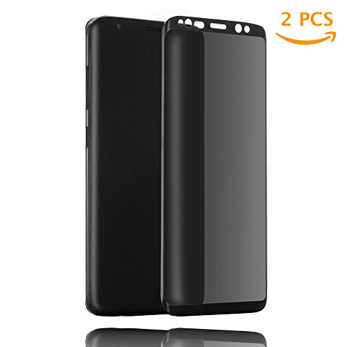 [2 Pack] Galaxy S8 Privacy Screen Protector, Tiamat Tempered Glass Anti-Spy Privacy Film for Samsung Galaxy S8 (Black)