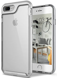 iPhone 8 Plus Case / iPhone 7 Plus Case Caseology [Skyfall Series] Transparent Clear Slim Scratch Resistant Cover Drop Protection for Apple iPhone 7 Plus (2016) / iPhone 8 Plus (2017) - Silver