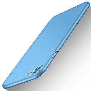 iPhone 7 Case, TORRAS Slim Fit Shell Hard Plastic Full Protective Anti-Scratch Resistant Cover Case for Apple iPhone 7 (2016) / iPhone 8 (2017)- Light Blue