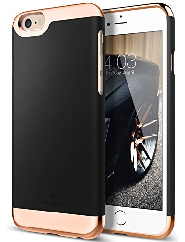 iPhone 6 Plus Case, Caseology [Savoy Series] Slim Premium Luxury Protective Two-Piece Removable Chrome Slider [Black] for Apple iPhone 6 Plus / iPhone 6S Plus