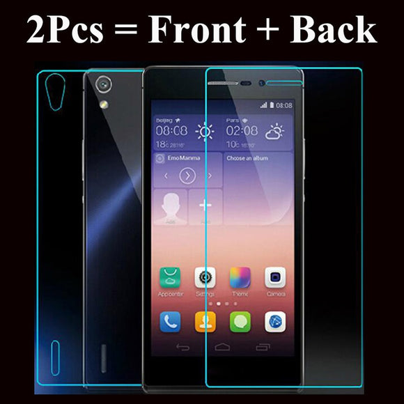 Tempered Glass Screen Protector 9H Front and back Explosion-proof Glass Protective film For Huawei honor 8 for Sony Xperia Z M4