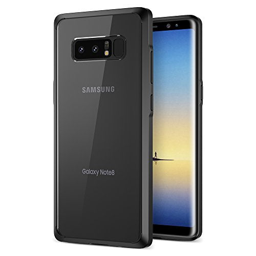 Note 8 Case, Trianium Clarium Series For Samsung Galaxy Note8 Case Clear Hybrid Cover [Scratch Resistant] Ergonomic Cushion Shock-Absorbing TPU Bumper + PC Hard Back Panel - Midnight Black/Clear