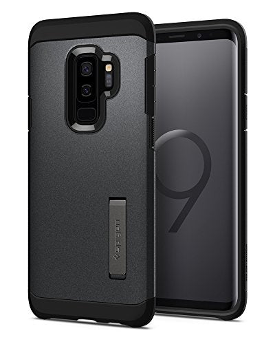 Spigen Tough Armor Galaxy S9 Plus Case with Reinforced Kickstand and Heavy Duty Protection and Air Cushion Technology for Samsung Galaxy S9 Plus (2018) - Graphite Gray