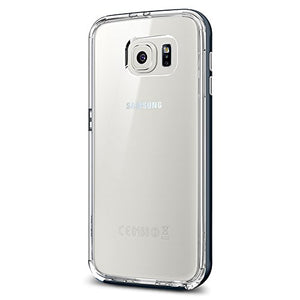 Spigen Neo Hybrid CC Galaxy S6 Case with Flexible Inner Casing and Reinforced Hard Bumper Frame for Galaxy S6 2015 - Metal Slate