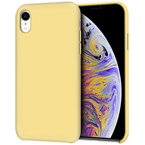 iPhone XR Case, Anuck Anti,Slip Liquid Silicone Gel Rubber Bumper Case with  Soft Microfiber Lining Cushion Slim Hard Shell Shockproof Protective Case