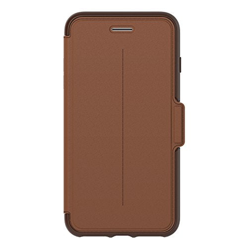 OtterBox STRADA SERIES Case for iPhone 8 Plus & iPhone 7 Plus (ONLY) - Retail Packaging - BURNT SADDLE (BURNT SADDLE/CHAPSHAIR LEATHER)