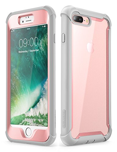 newest a1839 a3e15 iPhone 8 Plus case, iPhone 7 Plus case, i-Blason [Ares] Full-body Rugged  Clear Bumper Case with Built-in Screen Protector for Apple iPhone 8 ...