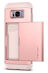 Spigen Slim Armor CS Galaxy S8 Case with Slim Dual Layer Wallet Design and Card Slot Holder for Samsung Galaxy S8 (2017) - Rose Gold