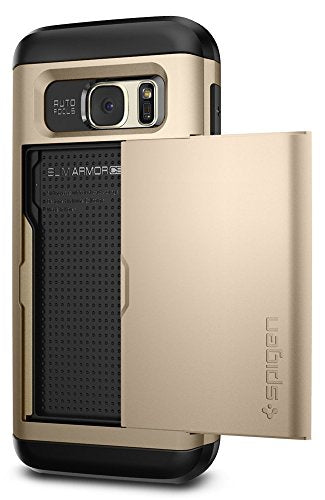 Spigen Slim Armor CS Galaxy S7 Case with Slim Dual Layer Wallet Design and Card Slot Holder for Samsung Galaxy S7 2016 - Champagne Gold