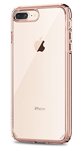 Spigen Ultra Hybrid [2nd Generation] iPhone 7 Plus Case / iPhone 8 Plus Case with Clear Backing Camera Protection and Air Cushion Technology for iPhone 7 Plus 2016 / iPhone 8 Plus 2017 - Rose Crystal