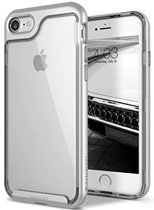 iPhone 7 Case, iPhone 8 Case, Caseology [Skyfall Series] Transparent Clear Slim Scratch Resistant Protective Cover Air Space Technology for Apple iPhone 7 (2016) / iPhone 8 (2017) - Silver