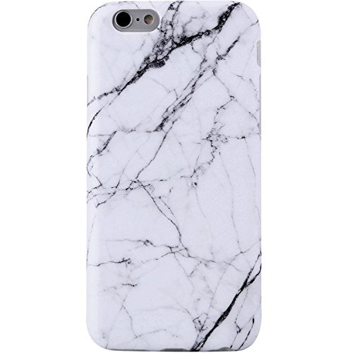 iPhone 6 Case,iPhone 6s Case White Marble, VIVIBIN Shock Absorption Anti Scratch IMD Soft TPU Silicon Gel Protective Cover Case for Regula iPhone 6 / iPhone 6s - 4.7