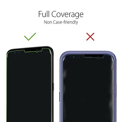 new arrivals 0555f eb777 Spigen Galaxy S8 Screen Protector NeoFlex / 2 Pack / Full Coverage / Non  Case Friendly for Samsung Galaxy S8