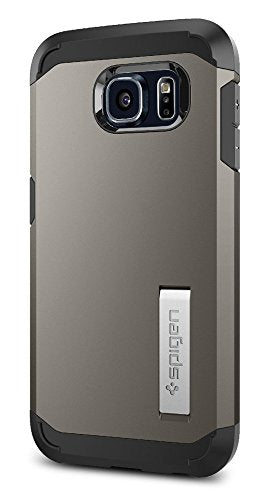 Spigen Tough Armor Galaxy S6 Case with Kickstand and Air Cushion Techonology for Galaxy S6 2015 - Gunmetal