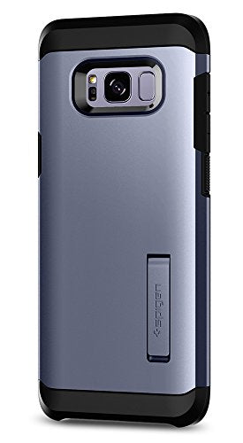 lowest price c0496 e9a24 Spigen Tough Armor Galaxy S8 Case with Kickstand and Extreme Heavy Duty  Protection and Air Cushion Technology for Galaxy S8 - Orchid Gray