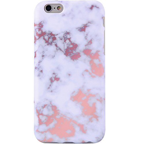 iPhone 6 Case,iPhone 6s Case Marble champagne and white, VIVIBIN Shock Absorption Anti Scratch IMD Soft TPU Silicon Gel Protective Cover Case for Regula iPhone 6 / iPhone 6s - 4.7