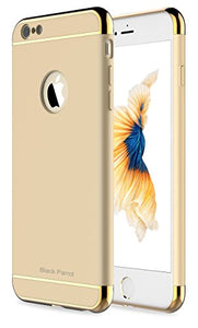 "iPhone 6S Case, Black Parrot 3 In 1 Ultra Thin and Slim Hard Case Coated Non Slip Matte Surface with Electroplate Frame for Apple iPhone 6 (4.7"")(2014) and iPhone 6S (4.7"")(2015) -- Gold"