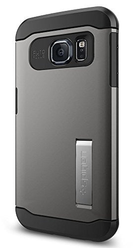 Spigen Slim Armor Galaxy S6 Edge Case with Kickstand and Air Cushion Technology and Hybrid Drop Protection for Galaxy S6 Edge 2015 - Gunmetal