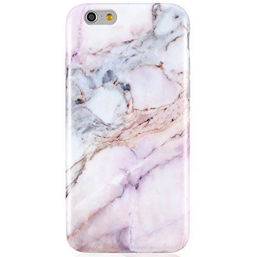 Pink iPhone 6 6S Case, Unique Marble Design,VIVIBIN Anti-Scratch &Fingerprint Shock Proof Thin TPU Case For iPhone 6 / 6s 4.7