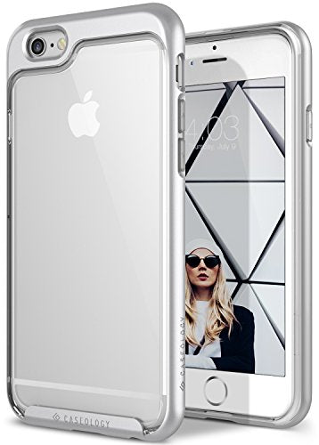 iPhone 6S Case, Caseology [Skyfall Series] Transparent Clear Slim Scratch Resistant Air Space Technology [Silver] for Apple iPhone 6S (2015) & iPhone 6 (2014)