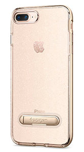 Spigen Crystal Hybrid iPhone 7 Plus / iPhone 8 Plus Case with Flexible Inner Casing and Reinforced Hard Bumper Frame for Apple iPhone 7 Plus (2016) / iPhone 8 Plus (2017) - Glitter Gold Quartz