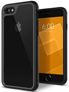 iPhone 8 Case / iPhone 7 Case Caseology [Coastline Series] Transparent Clear Slim Protective Scratch Resistant Color Contrast Frosted Frame for Apple iPhone 8 (2017) / iPhone 7 (2016) - Gray