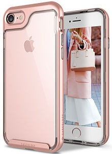 iPhone 7 Case, iPhone 8 Case, Caseology [Skyfall Series] Transparent Clear Slim Scratch Resistant Protective Cover Air Space Technology for Apple iPhone 7 (2016) / iPhone 8 (2017) - Rose Gold
