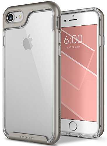 iPhone 8 Case / iPhone 7 Case Caseology [Skyfall Series] Slim Transparent Clear Scratch Resistant Protective Cover for Apple iPhone 8 (2017) / iPhone 7 (2016) - Warm Gray