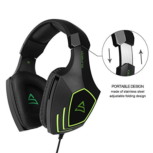 SUPSOO G820 gaming headset for New Xbox One, PS4 controller,3.5mm ...