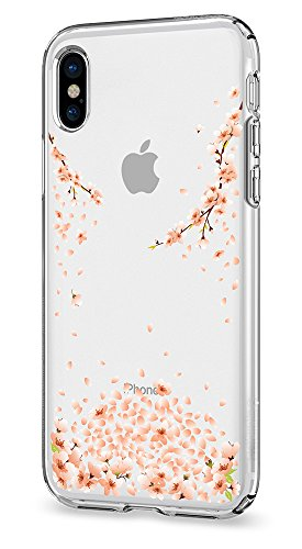 Spigen Liquid Crystal iPhone X Case with Slim Protection and Premium Clarity for Apple iPhone X (2017) - Blossom Crystal Clear