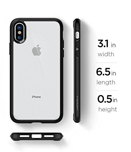 separation shoes 189e7 99f91 Spigen Ultra Hybrid iPhone X Case with Air Cushion Technology and Hybrid  Drop Protection for Apple iPhone X (2017) - Matte Black