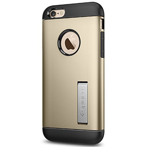 Spigen Slim Armor iPhone 6S Case with Kickstand and Air Cushion Technology Hybrid Drop Protection for iPhone 6S / iPhone 6 - Champagne Gold