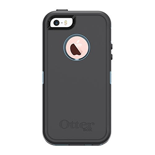 OtterBox DEFENDER SERIES Case for iPhone 5/5s/SE - Retail Packaging - STEEL BERRY (WHETSTONE BLUE/SLATE GREY)