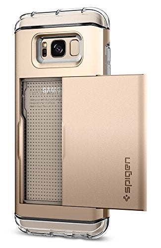 Spigen Crystal Wallet Galaxy S8 Case with Slim Dual Layer Wallet Design and Card Slot Holder for Galaxy S8 (2017) - Maple Gold