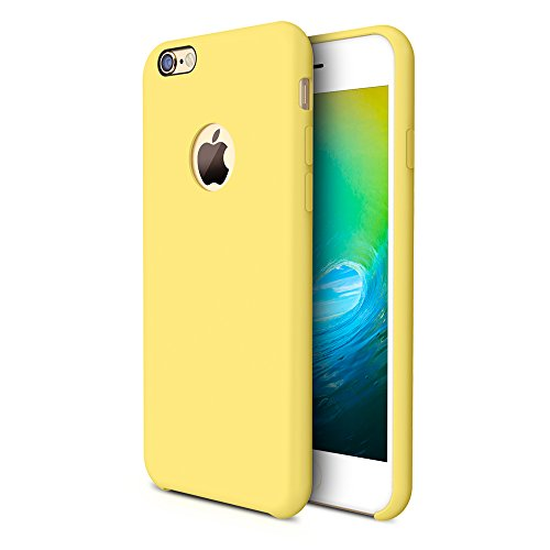 iPhone 6s Case, TORRAS [Love Series] Liquid Silicone Rubber iPhone 6 6S Shockproof Case with Soft Microfiber Cloth Cushion (4.7 inches)-Yellow