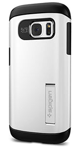Spigen Slim Armor Galaxy S7 Case with Kickstand and Air Cushion Technology and Hybrid Drop Protection for Samsung Galaxy S7 2016 - Shimmery White